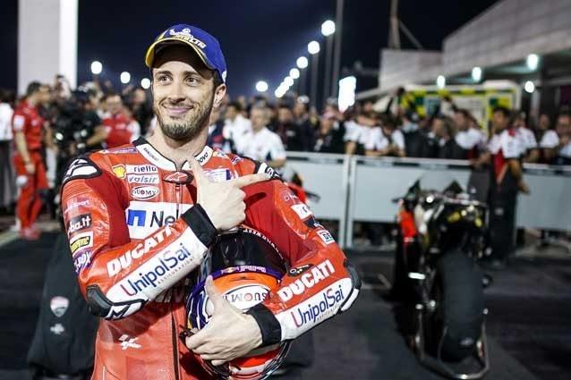 Andrea Dovizioso dopo la vittoria in Qatar / Getty