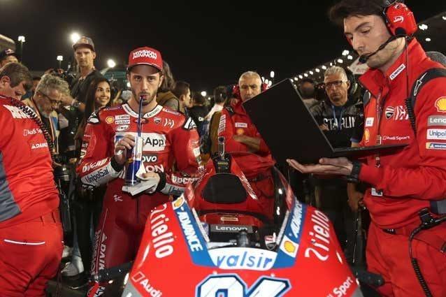 Andrea Dovizioso e gli uomini Ducati in griglia di partenza in Qatar / Getty