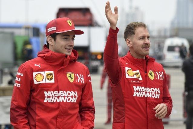 Charles Leclerc e Sebastian Vettel – Getty images