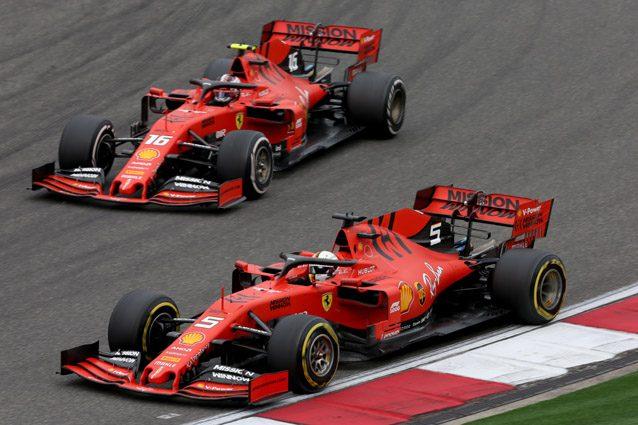 Le due Ferrari di Sebastian Vettel e Charles Leclerc – Getty images