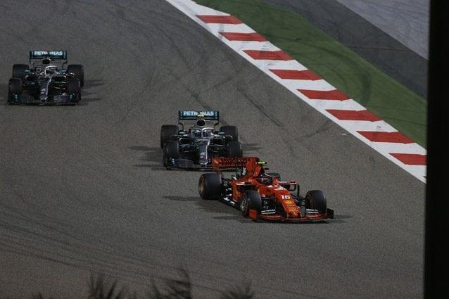 Leclerc durante il GP del Bahrain – LaPresse