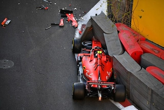 Leclerc sbaglia, Ferrari a muro nelle qualifiche del GP d'Azerbaijan