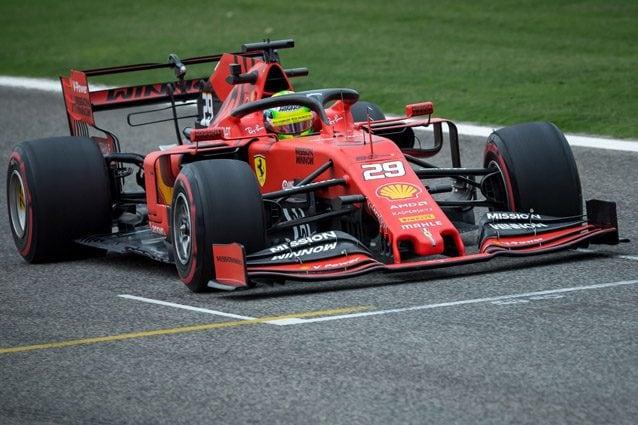 Mick Schumacher al volante della Ferrari – Getty images