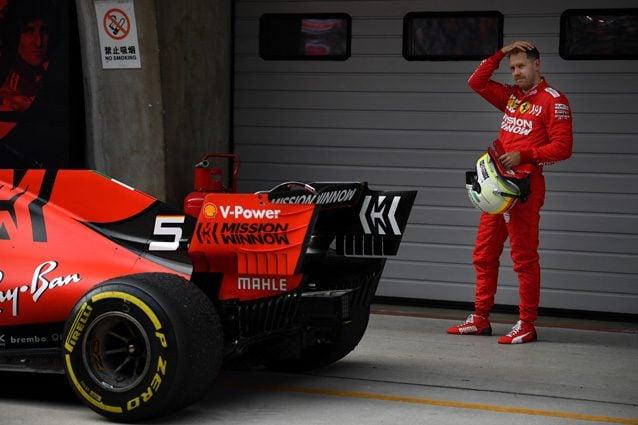 Sebastian Vettel dopo il GP della Cina – Getty images