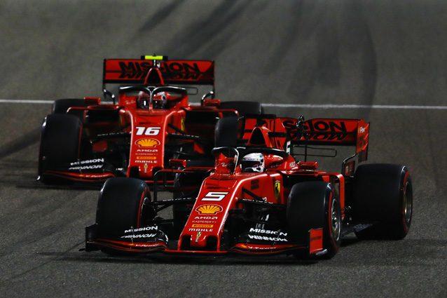 Vettel e Leclerc al volante della SF90 – Getty images