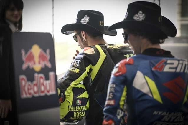 Valentino Rossi e Alex Rins ad Austin prima di salire sul podio / MotoGP