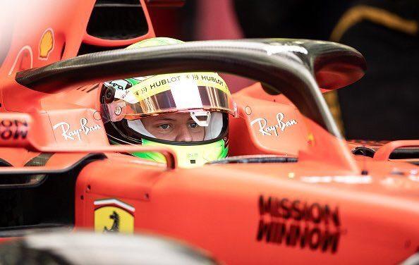 Mick Schumacher al volante della Ferrari