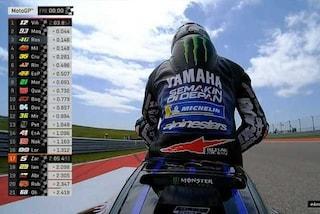MotoGP Austin, Marquez nella morsa Yamaha: 1° Vinales, 3° Rossi