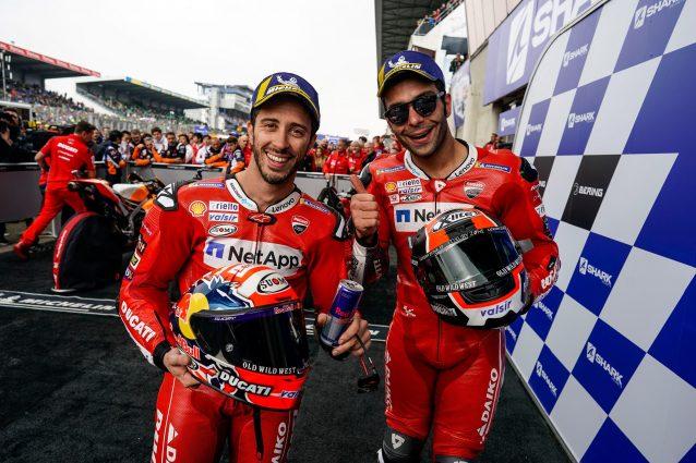 Andrea Dovizioso e Danilo Petrucci a Le Mans / Getty