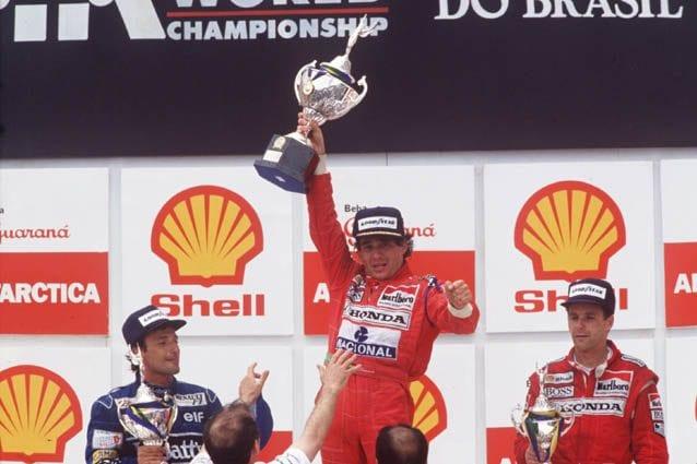 Ayrton Senna in Brasile nel 1991 – Getty images