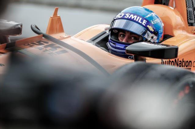 Fernando Alonso alla 500 Miglia di Indianapolis