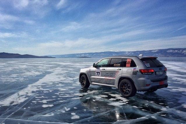 La Jeep Grand Cherokee Trackhawk che ha stabilito il record in Russia