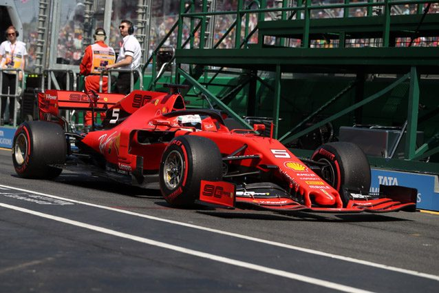 La Ferrari di Sebastian Vettel – LaPresse