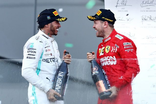 Lewis Hamilton e Sebastian Vettel – Getty images