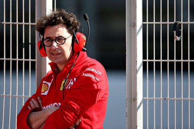 Il team principal Ferrari Mattia Binotto – Getty images