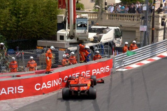 L'incidente di Vettel a Monaco – Foto Twitter
