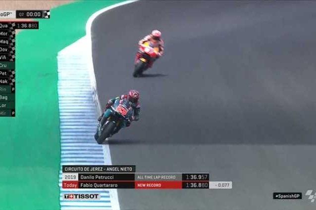 Quartararo in pole poi Morbidelli Marquez è terzo, Rossi indietro