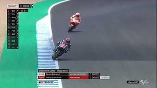 MotoGP, a Jerez la pole è di baby Quartararo, 2° Morbidelli, solo 13° Rossi