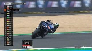 MotoGP Le Mans, Vinales si prende il venerdì, Rossi fuori dai 10