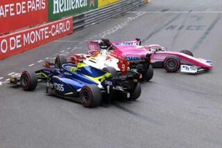 F2 Monte Carlo, Mick Schumacher divide gara-1 a metà: bandiera rossa e due penalità, vince De Vries