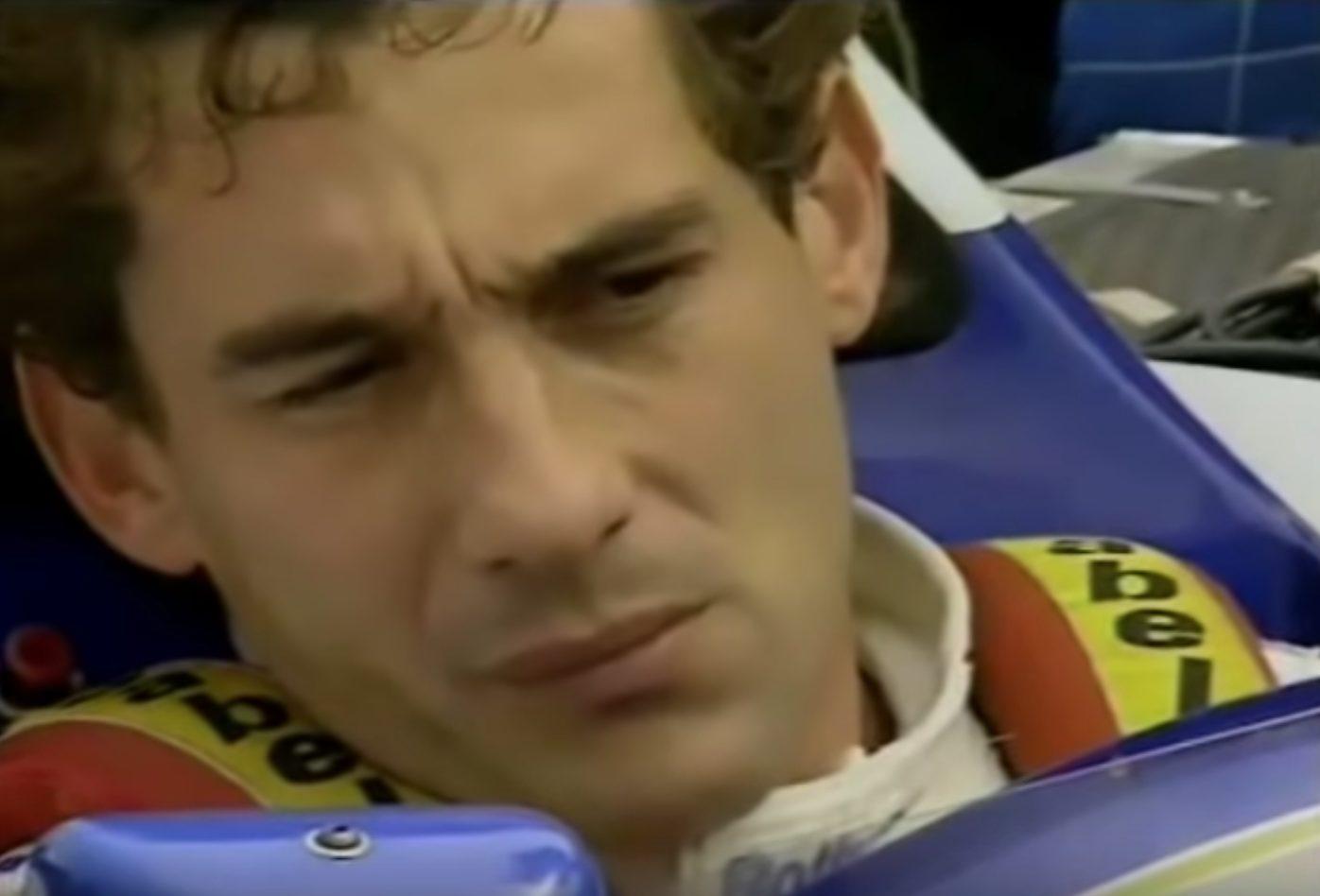Ayrton Senna pochi minuti prima della partenza del Gran Premio di San Marino.