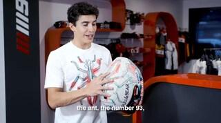 MotoGP, Marquez a Barcellona con un nuovo casco speciale