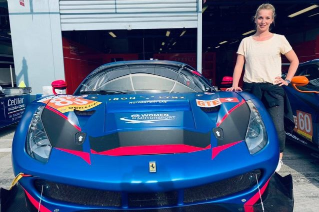 Manuela Gostner con la Ferrari 488 GTE del team Kessel Racing