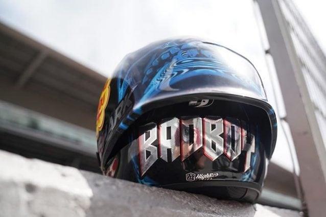 Il retro del casco di Lorenzo per il Gp di Catalunya