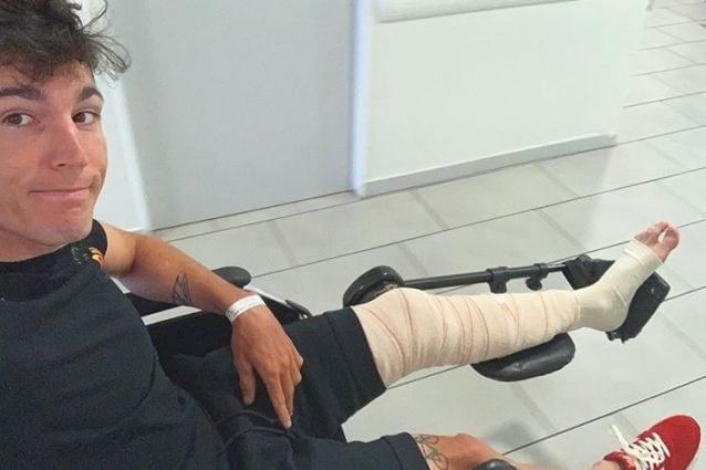 Aleix Espargaro in ospedale dopo l'incidente al primo giro del GP di Catalunya / Instagram