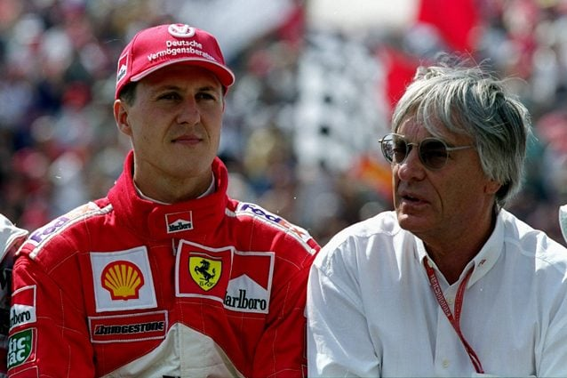 Bernie Ecclestone e Michael Schumacher – Getty images