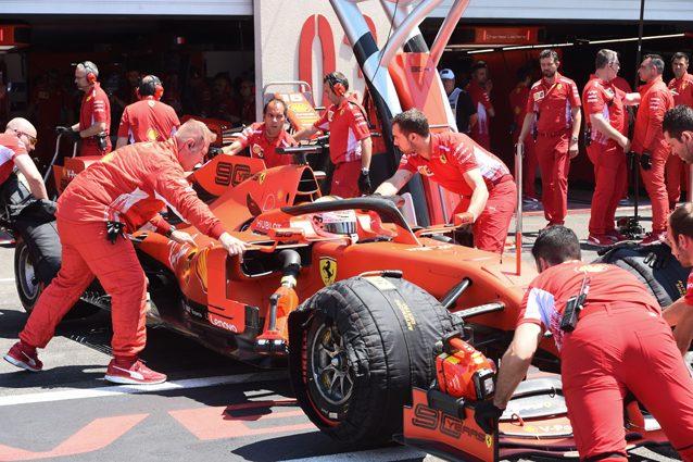 La SF90 di Vettel – Getty images