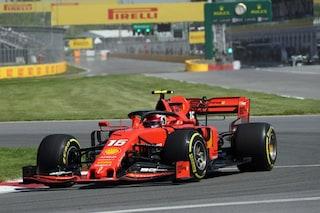 F1 GP Canada, Prove libere 2: Ferrari al top, Hamilton tocca il muro e danneggia la Mercedes
