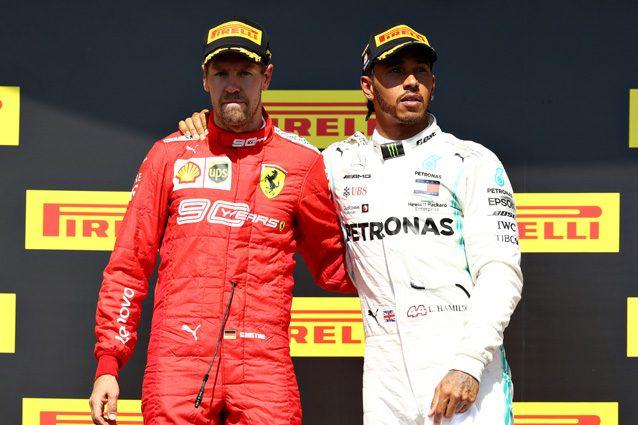 Lewis Hamilton e Sebastian Vettel nel GP del Canada – Getty images