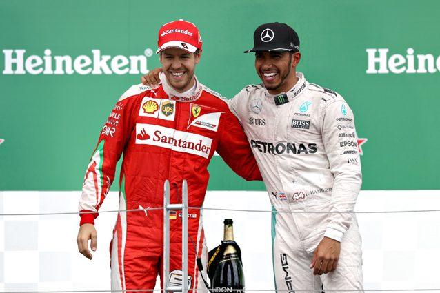 Lewis Hamilton e Sebastian Vettel– Getty images