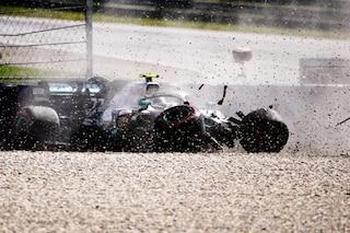 F1 GP Austria, Prove libere 2: Verstappen e Bottas contro le barriere, Leclerc chiude in testa