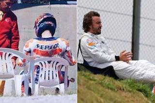 MotoGP, Lorenzo evoca Alonso: seduto su una sedia per i problemi con la Honda