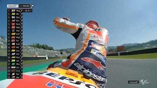 MotoGP Mugello, Marquez si prende anche il warm up. Rossi resta indietro, 15°