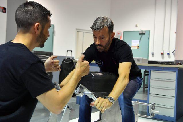 Max Biaggi nel quartier generale di Voxan–Venturi / Venturi Racing