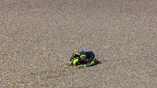 "MotoGP Assen, Valentino Rossi: ""Che botta, mi dispiace per Nakagami"""