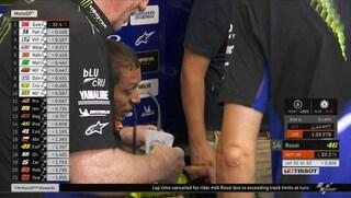 MotoGP Assen, Quartararo vola, giro cancellato per Valentino Rossi che resta fuori dai 10