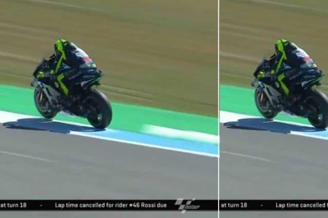 L'errore di Valentino Rossi durante le libere 3 ad Assen / MotoGP.com
