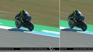 MotoGP Assen, Valentino Rossi sbaglia e gli cancellano il giro: ecco perché il Dottore va in Q1