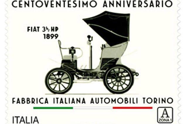Il francobollo per i 120 anni della Fiat
