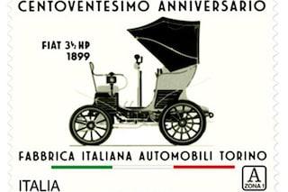 Fiat, un francobollo speciale per festeggiare i 120 anni di storia