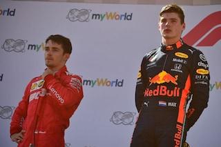 """Verstappen e la rivalità con Leclerc: """"È un grande pilota, ho molto rispetto per lui"""""""