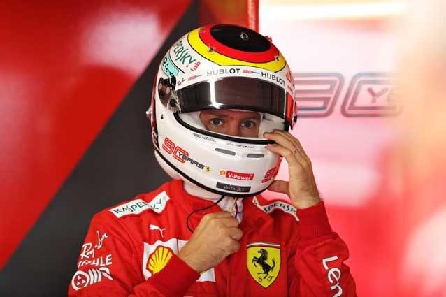 Sebastian Vettel con il casco celebrativo a Hockenheim – Getty images
