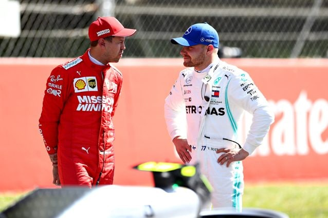 Valtteri Bottas e Sebastian Vettel – Getty images