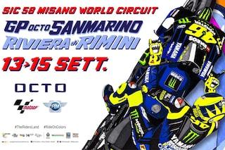 MotoGP, il poster del GP di Misano è un omaggio a Valentino Rossi