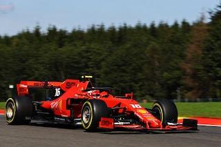 F1 GP Belgio, Prove libere 2: Leclerc mette le ali, le due Ferrari ancora davanti a tutti