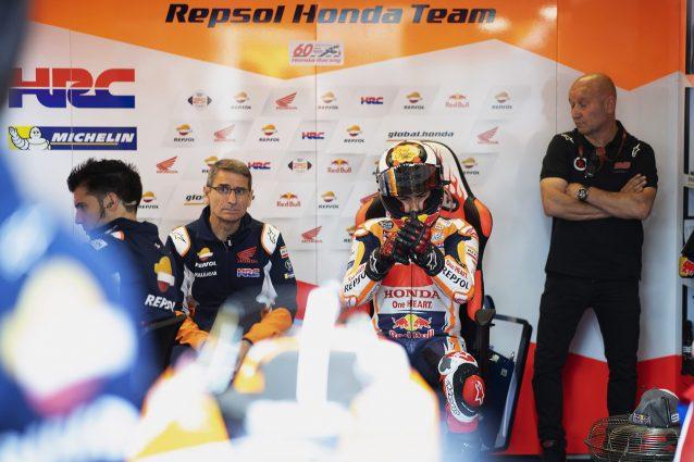 Jorge Lorenzo al box Honda / Getty
